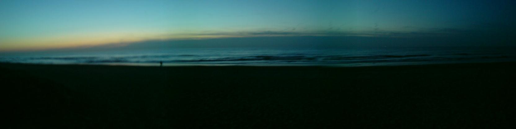 Zonsondergang ten noorden van Scheveningen